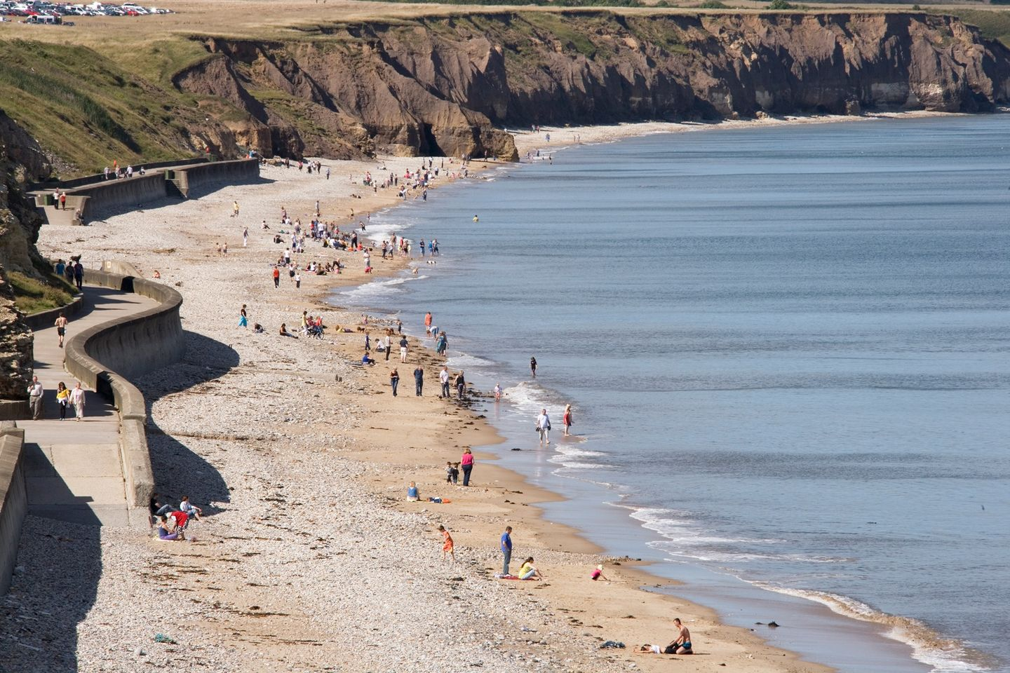 Seaham beach and cliffs image promoting beach clean event